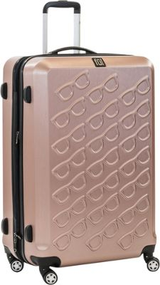 ful Sunglasses 29in Spinner Rolling Luggage Gold - ful Hardside Checked