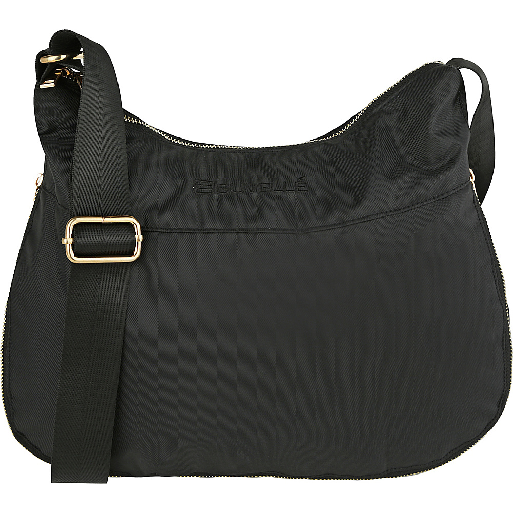 Suvelle RFID Expandable Travel Convertible Crossbody Bag Black Suvelle Fabric Handbags