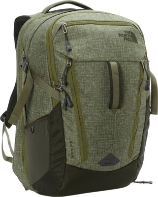 The North Face Surge Laptop Backpack- Sale Colors Terrarium Green Heather/Rosin Green - The North Face Business & Laptop Backpacks