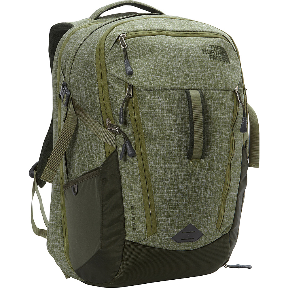 The North Face Surge Laptop Backpack Discontinued Colors Terrarium Green Heather Rosin Green The North Face Business Laptop Backpacks
