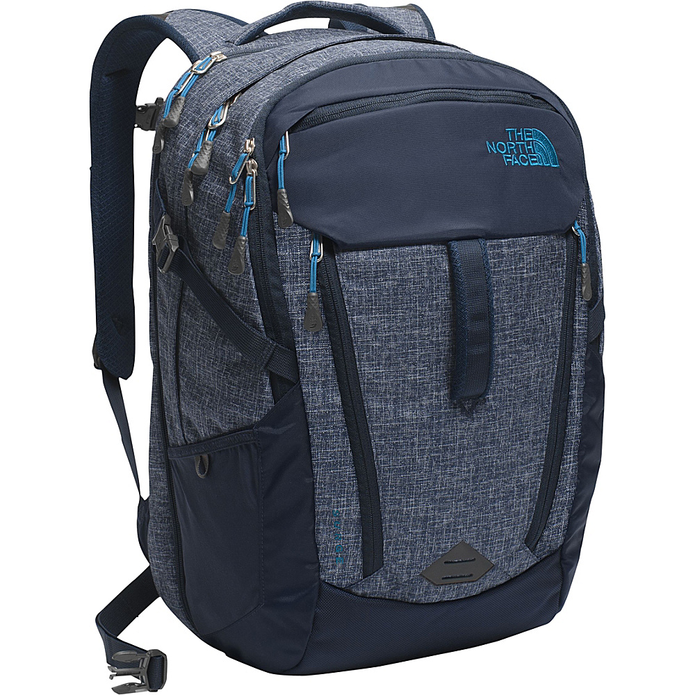 The North Face Surge Laptop Backpack- Discontinued Colors Urban Navy Heather/Banff Blue - The North Face Business & Laptop Backpacks