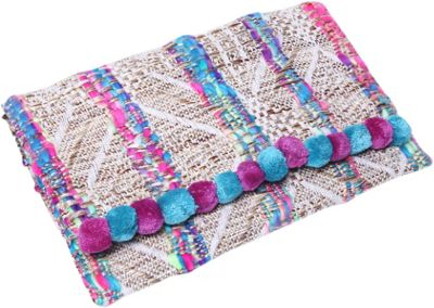 Gottex Aruba Clutch Blue Multi - Gottex Fabric Handbags