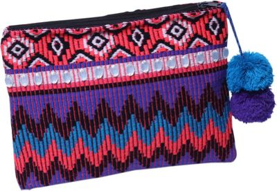 Ale by Alessandra PurpleReign Clutch Purple/Multi - Ale by Alessandra Fabric Handbags