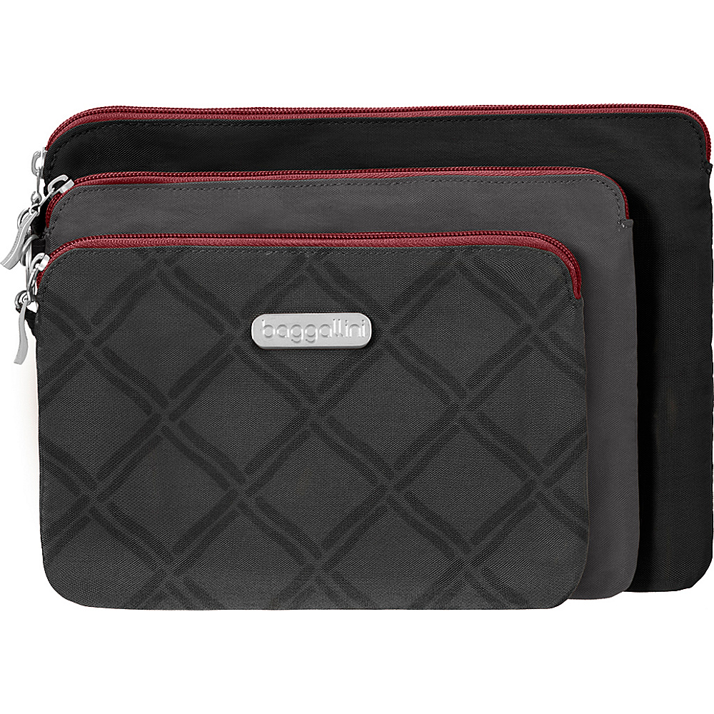 baggallini 3 Pouch Travel Set - Retired Colors CHARCOAL LINK MULTI - baggallini Womens SLG Other - Women's SLG, Women's SLG Other