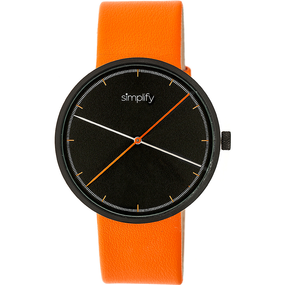 Simplify The 4100 Unisex Watch Orange Simplify Watches