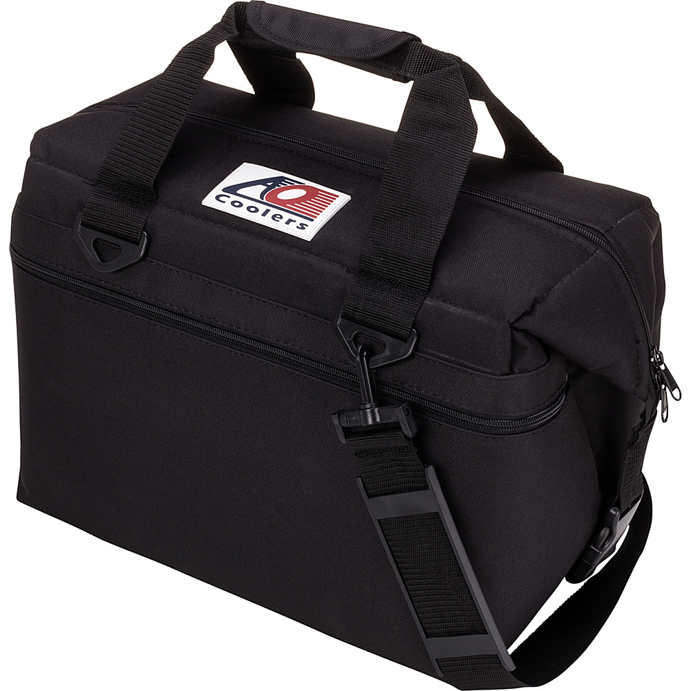 AO Coolers 24 Pack Canvas Soft Cooler Black AO Coolers Outdoor Coolers