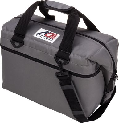 AO Coolers 24 Pack Canvas Soft Cooler Charcoal - AO Coolers Outdoor Coolers