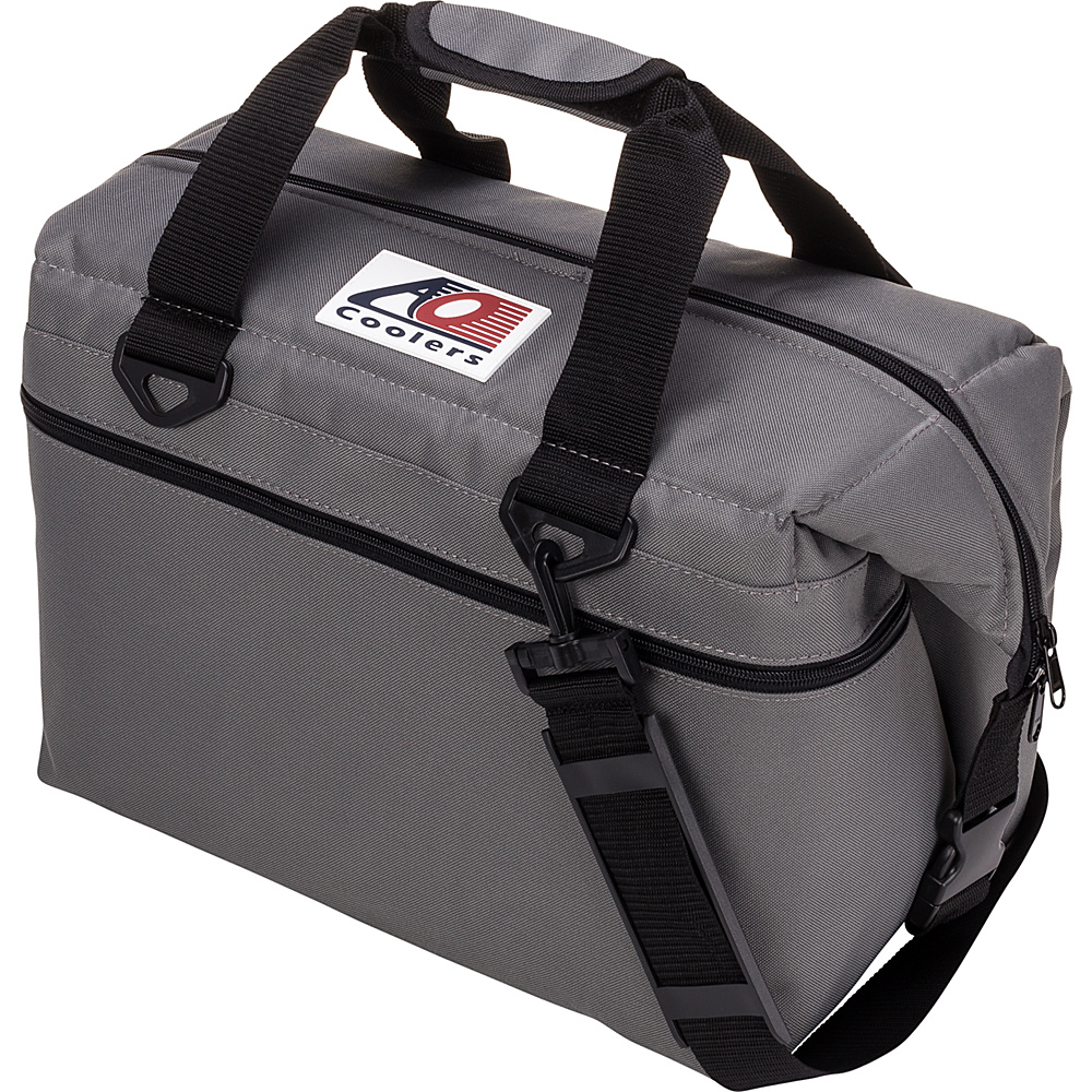 AO Coolers 24 Pack Canvas Soft Cooler Charcoal AO Coolers Outdoor Coolers