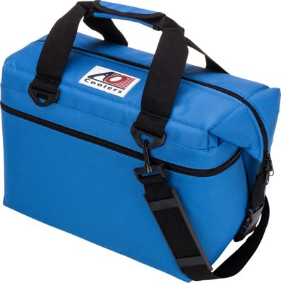 AO Coolers 24 Pack Canvas Soft Cooler Royal Blue - AO Coolers Outdoor Coolers