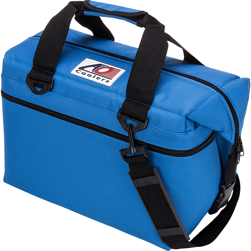 AO Coolers 24 Pack Canvas Soft Cooler Royal Blue AO Coolers Outdoor Coolers