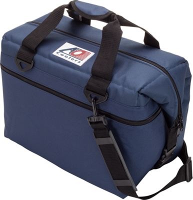 AO Coolers 24 Pack Canvas Soft Cooler Navy Blue - AO Coolers Outdoor Coolers