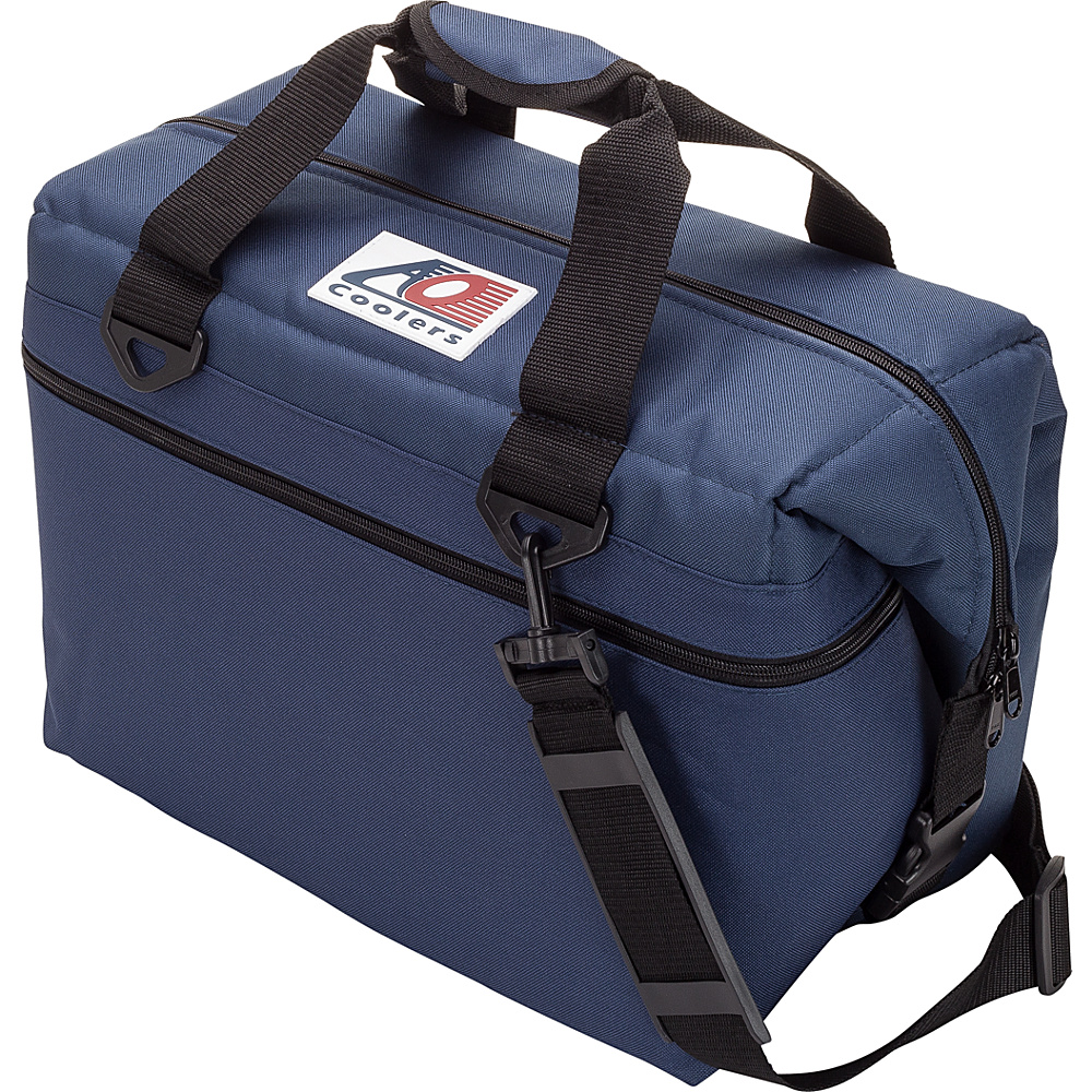 AO Coolers 24 Pack Canvas Soft Cooler Navy Blue AO Coolers Outdoor Coolers