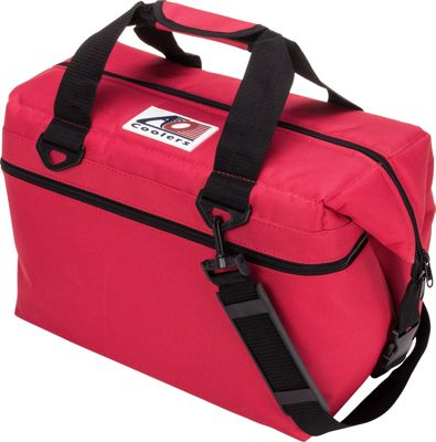 AO Coolers 24 Pack Canvas Soft Cooler Red - AO Coolers Outdoor Coolers
