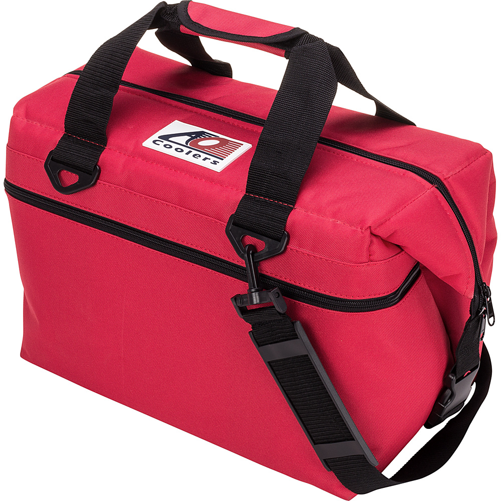 AO Coolers 24 Pack Canvas Soft Cooler Red AO Coolers Outdoor Coolers