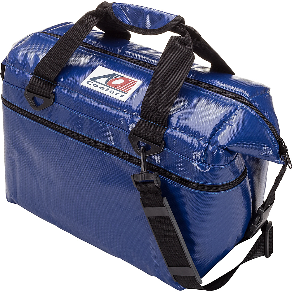 AO Coolers 24 Pack Vinyl Soft Cooler Royal Blue AO Coolers Outdoor Coolers