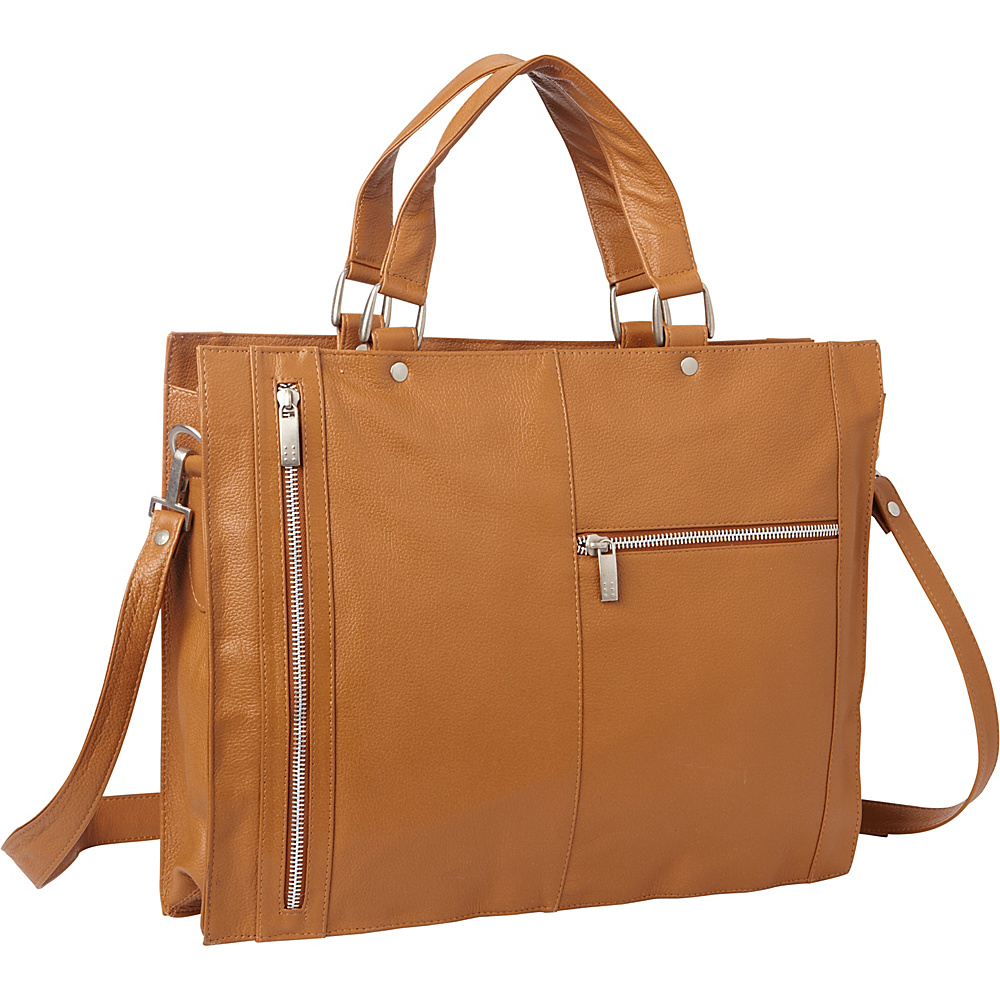 Piel Soft Sided Leather Portfolio Saddle - Piel Womens Business Bags - Work Bags & Briefcases, Women's Business Bags