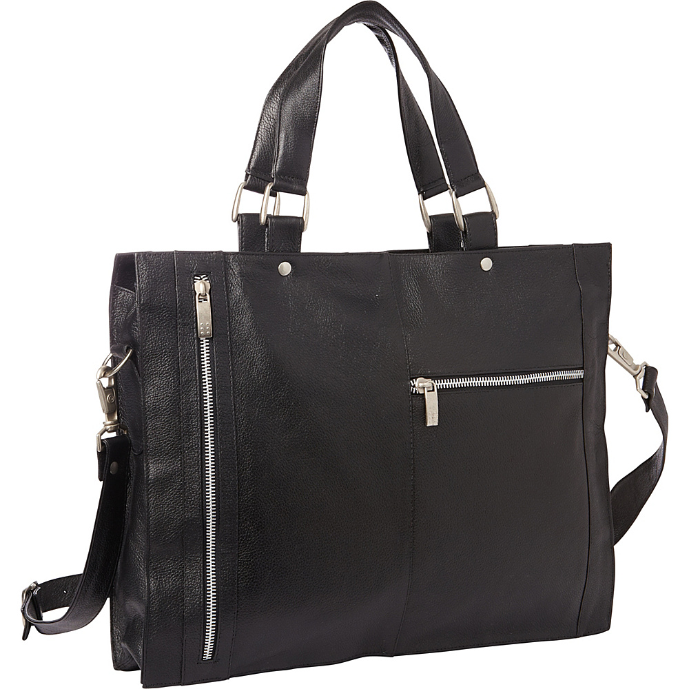 Piel Soft Sided Leather Portfolio Black - Piel Womens Business Bags - Work Bags & Briefcases, Women's Business Bags