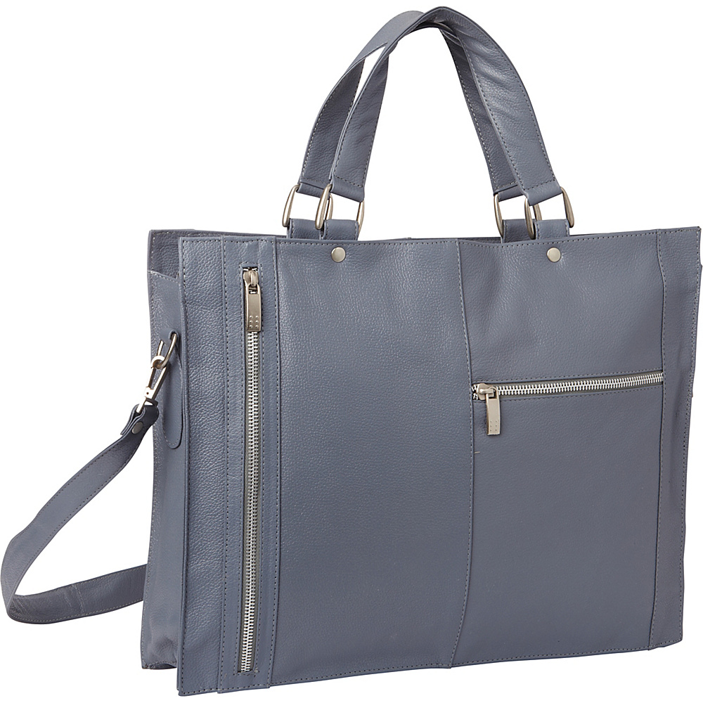 Piel Soft Sided Leather Portfolio Gray - Piel Womens Business Bags - Work Bags & Briefcases, Women's Business Bags