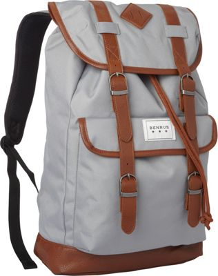 BENRUS Scout Backpack Silver Grey - BENRUS Everyday Backpacks
