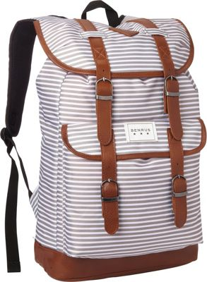 BENRUS Scout Backpack Silver Stripe - BENRUS Everyday Backpacks