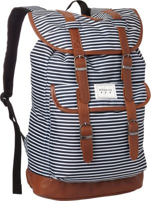 BENRUS Scout Backpack Navy Stripe - BENRUS Everyday Backpacks