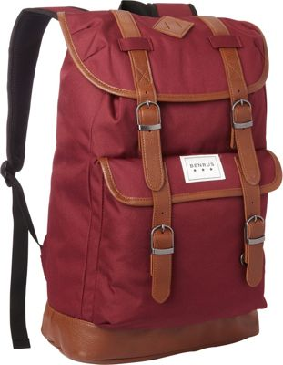 BENRUS Scout Backpack Burgundy - BENRUS Everyday Backpacks