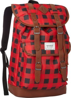 BENRUS Scout Backpack Red Buffalo Check - BENRUS Everyday Backpacks