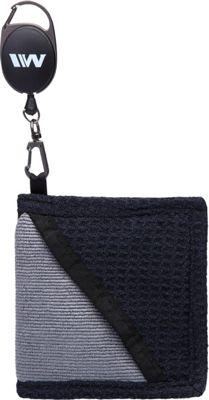 Wellzher Microfiber Retractable Golf Ball Towel Black - Wellzher Sports Accessories