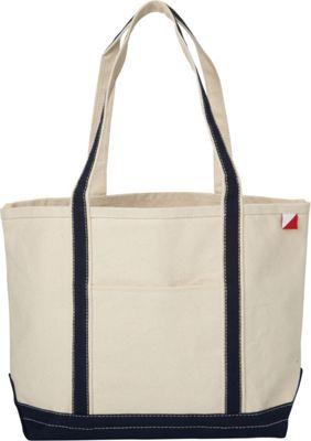 Shorebags Medium Classic Pocketed Boat Tote Navy - Shorebags Fabric Handbags