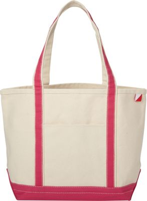 Shorebags Medium Classic Pocketed Boat Tote Hot Pink - Shorebags Fabric Handbags
