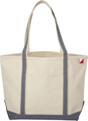 Shorebags Medium Classic Pocketed Boat Tote Gray - Shorebags Fabric Handbags
