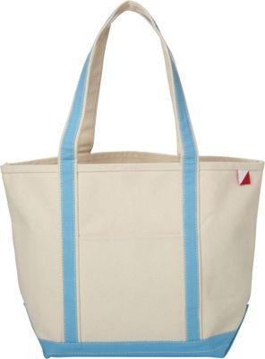 Shorebags Medium Classic Pocketed Boat Tote Light Blue - Shorebags Fabric Handbags
