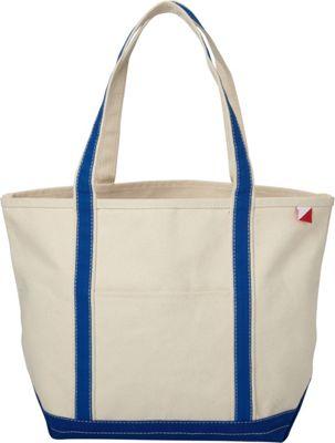 Shorebags Medium Classic Pocketed Boat Tote Cobalt Blue - Shorebags Fabric Handbags