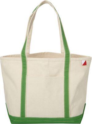 Shorebags Medium Classic Pocketed Boat Tote Jade Green - Shorebags Fabric Handbags