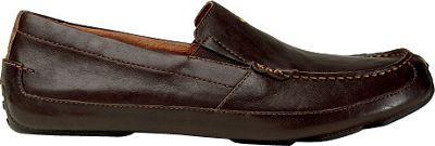 OluKai Mens Akepa Moc Slip-On 10.5 - Chocolate/Chocolate - OluKai Men's Footwear