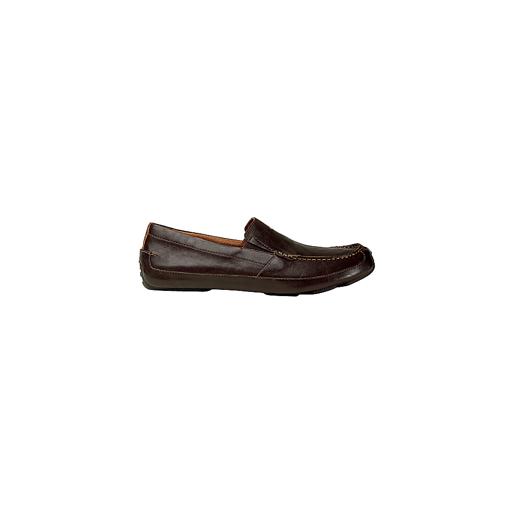OluKai Mens Akepa Moc Slip-On 9 - Chocolate/Chocolate - OluKai Mens Footwear - Apparel & Footwear, Men's Footwear