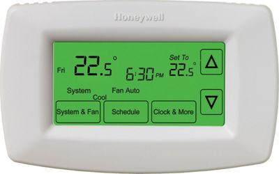 Honeywell 7-Day Touchscreen Programmable Thermostat White - Honeywell Smart Home Automation