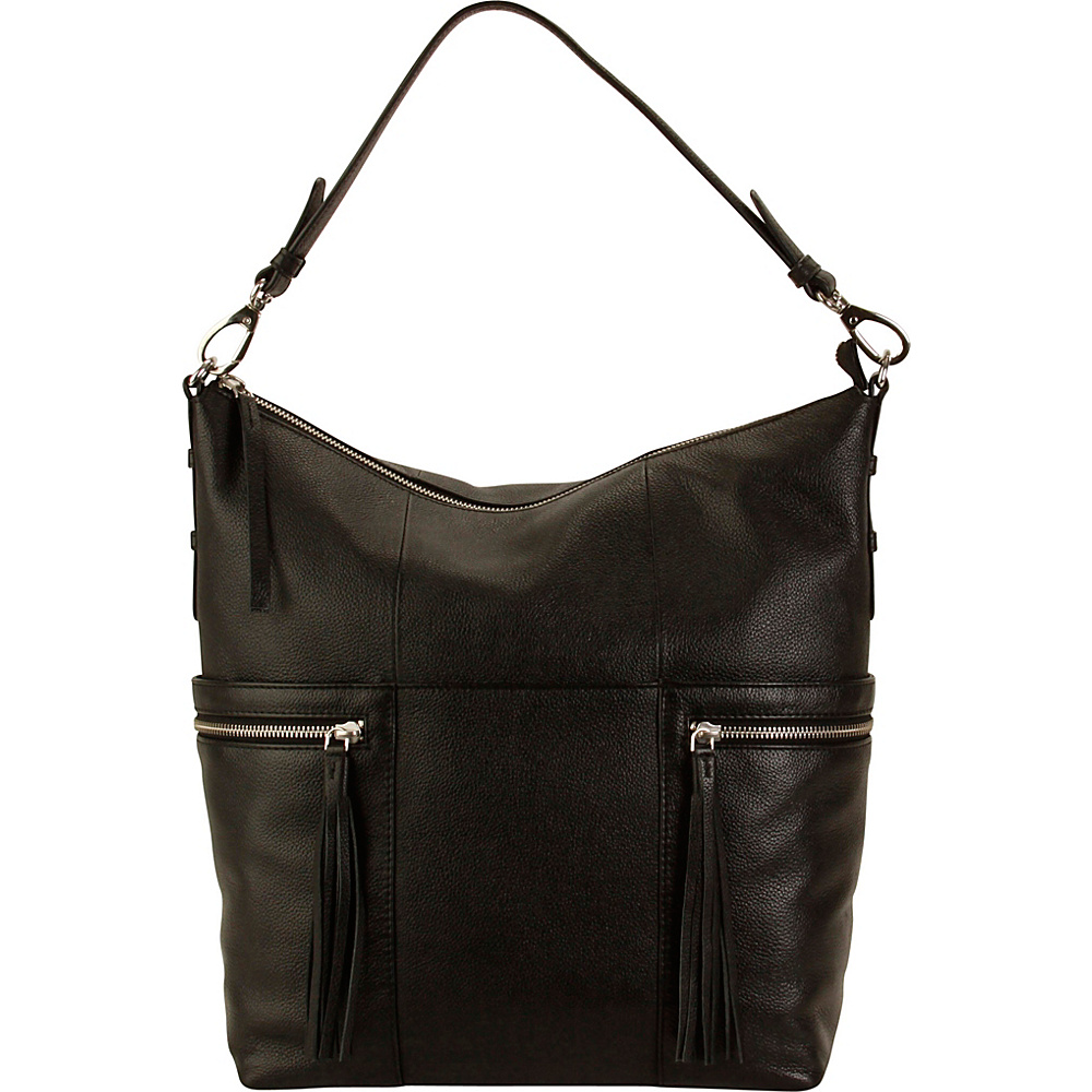 Hadaki Urban Edge Hobo Black - Hadaki Leather Handbags - Handbags, Leather Handbags