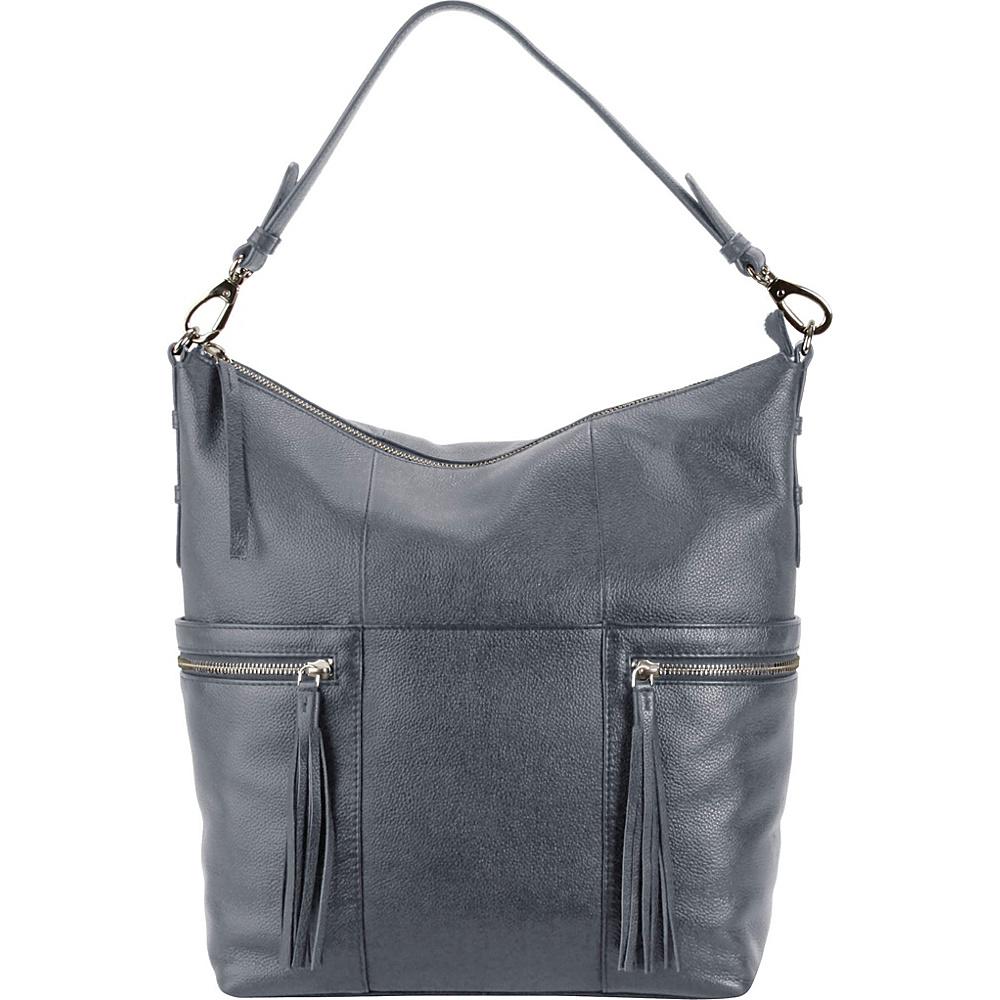 Hadaki Urban Edge Hobo Marine Blue - Hadaki Leather Handbags - Handbags, Leather Handbags