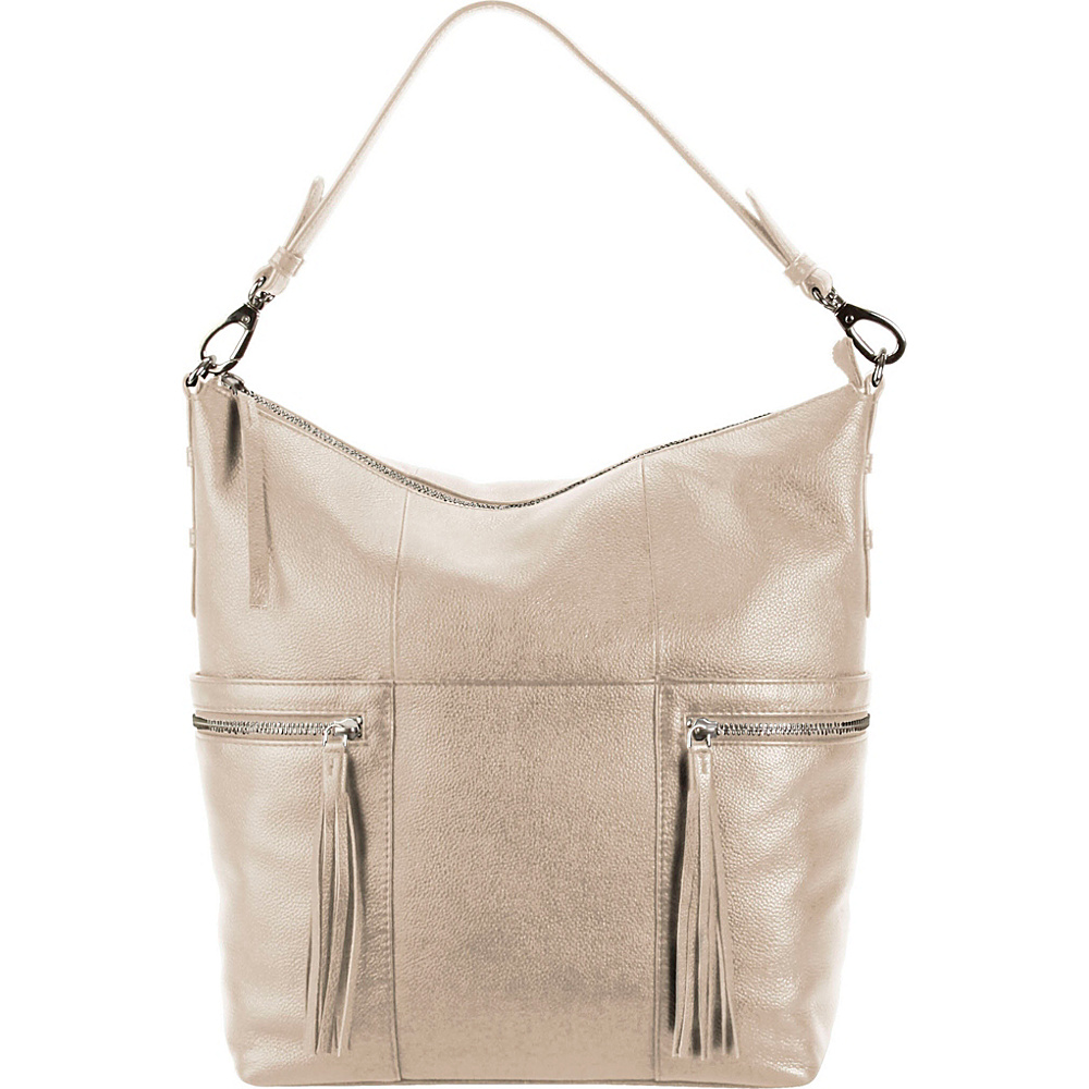 Hadaki Urban Edge Hobo Pearl Gray - Hadaki Leather Handbags - Handbags, Leather Handbags