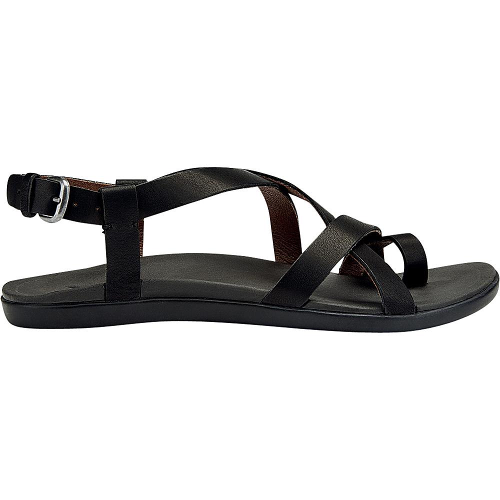 OluKai Womens Upena Sandal 6 - Black/Black - OluKai Womens Footwear - Apparel & Footwear, Women's Footwear