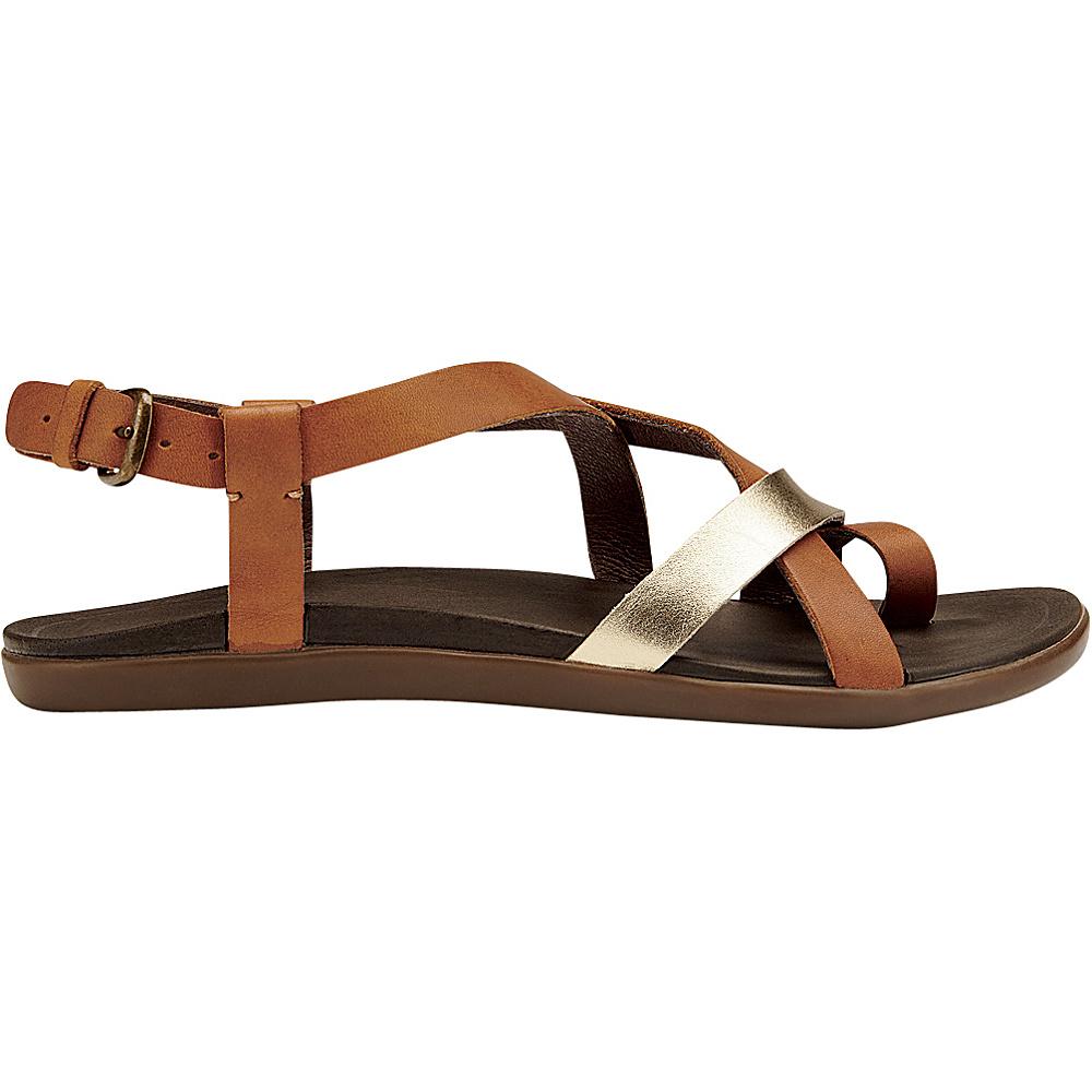 OluKai Womens Upena Sandal 5 - Mustard/Bubbly - OluKai Womens Footwear - Apparel & Footwear, Women's Footwear