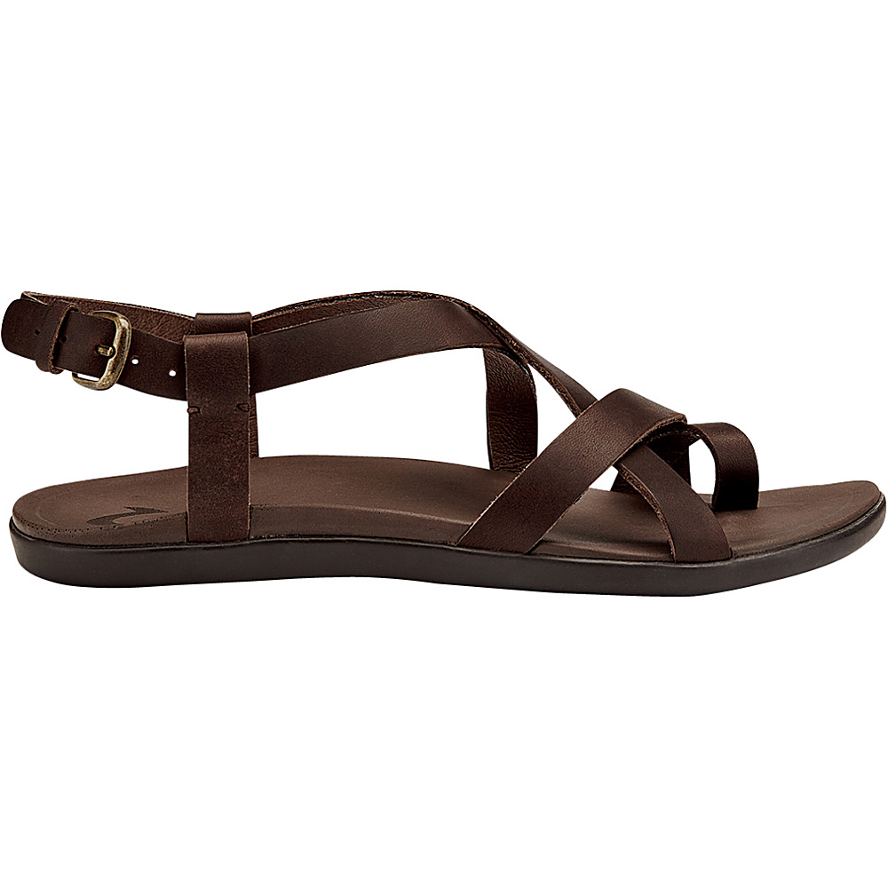 OluKai Womens Upena Sandal 10 - Kona Coffee/Kona Coffee - OluKai Womens Footwear - Apparel & Footwear, Women's Footwear