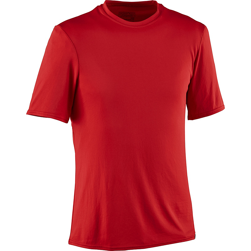 Patagonia Mens Capilene Daily T-Shirt S - Fire - Patagonia Mens Apparel - Apparel & Footwear, Men's Apparel