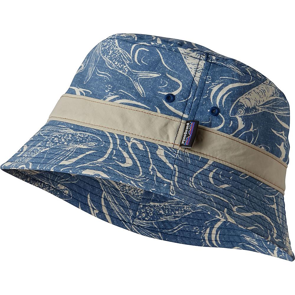 Patagonia Wavefarer Bucket Hat S/M - Fish Splash: Big Sur Blue - L/XL - Patagonia Hats/Gloves/Scarves - Fashion Accessories, Hats/Gloves/Scarves