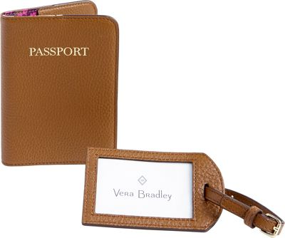 Vera Bradley RFID Travel Companions-Retired Prints Cognac - Vera Bradley Travel Wallets