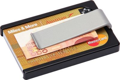 Wallum Credit Card Holder Wallet with Money Clip Black - Wallum Men's Wallets