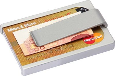 Wallum Credit Card Holder Wallet with Money Clip Grey - Wallum Men's Wallets