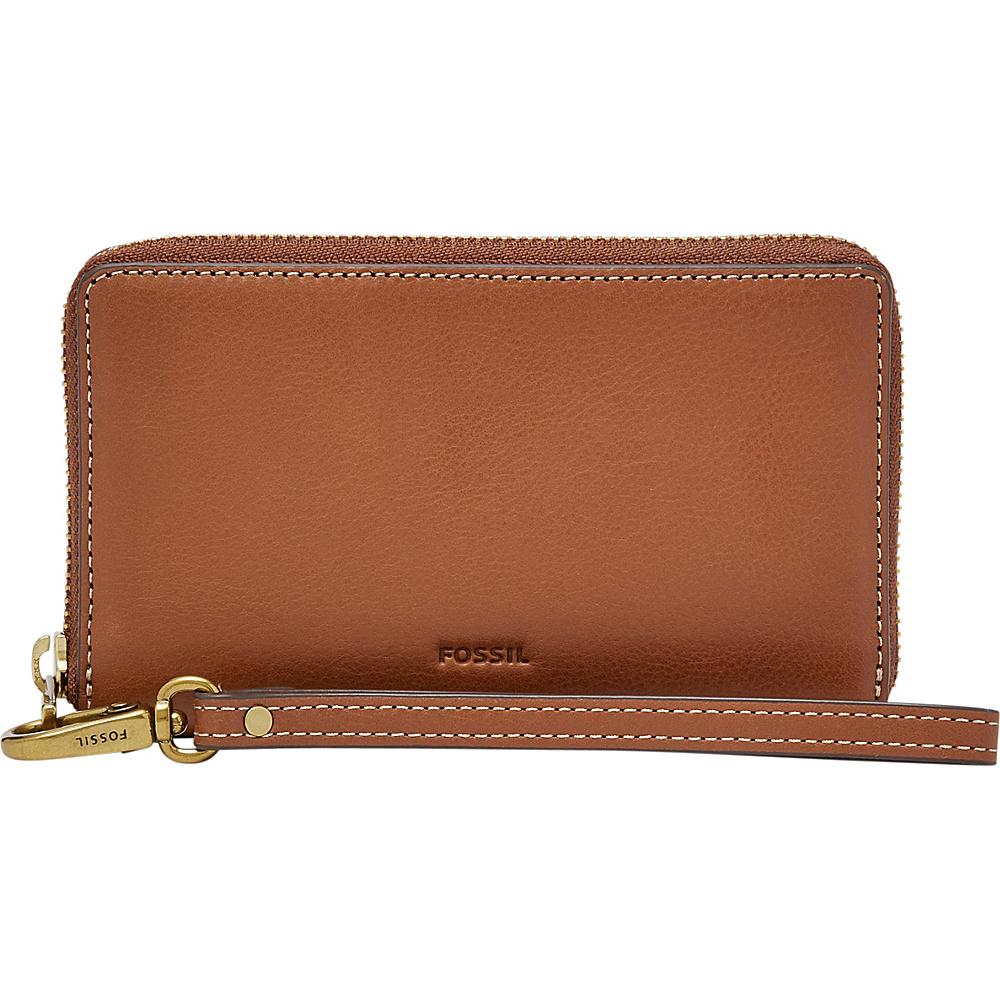 Fossil Emma RFID Smartphone Wristlet Brown - Fossil Designer Handbags - Handbags, Designer Handbags