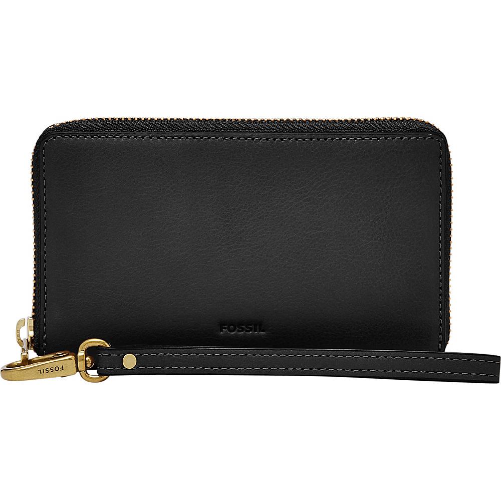 Fossil Emma RFID Smartphone Wristlet Black - Fossil Designer Handbags - Handbags, Designer Handbags